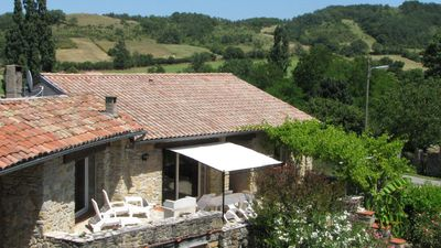 Photo for Four self-catering cottages in an old farmhouse with pool - 'Burgundy'