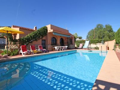 Photo for 3 bedroom Villa, sleeps 5 with Pool, Air Con, WiFi and Walk to Beach & Shops