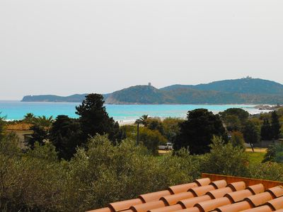 Photo for Delightful detached panoramic, wide garden, 150 Mt from the beautiful white sandy beach of Simius
