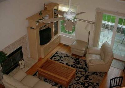 overhead view of living room