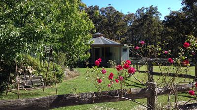 """Photo for """"Ionaforest"""" self contained Yurt in a bush setting"""