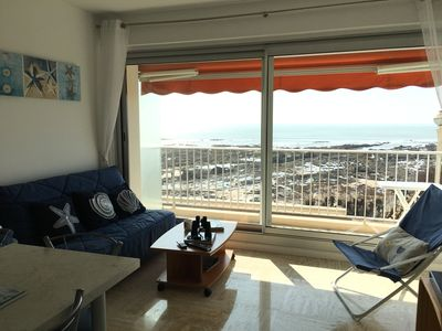Photo for 3 persons, balcony facing sea, splendid view, wifi, parking