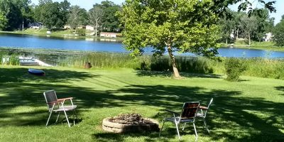 Photo for Beautiful lakeside retreat with dock. 1 Hr to Notre Dame. Golf minutes away.