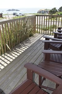 warm, relaxing south side of deck