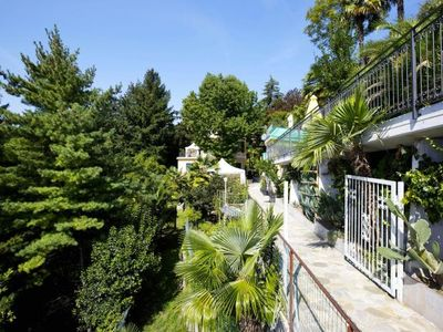 Photo for Nice apartment in an Art Nouveau villa with pool and spacious park