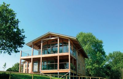 Photo for Russet is a one-bedroom luxury penthouse lodge in peaceful Suffolk Constable Country.