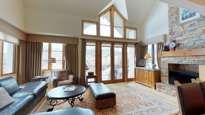 Photo for Luxuriate in Your Own Private Sauna & Hot Tub as Majestic Mountain Views Pour in Your Window