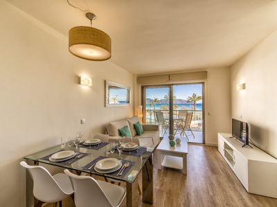 Photo for Modern apartment with beautiful views of the beach of Cala Millor