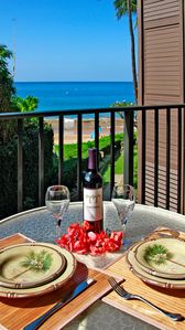 Enjoy dining on your private lanai with an ocean view