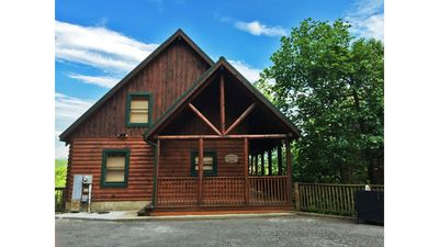 Photo for Luxury Cabin *Great Fall Rates Available* 1.5 miles from Pkwy Hot Tub/Pool Table