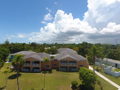 Regatta's of Abaco, there are restaurants in walking distance and local shops.