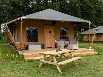Photo for Alluring Tent Lodge in Alphen with Hot Tub and Garden