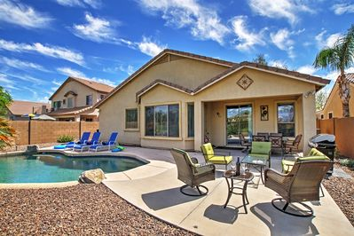 Enjoy a private oasis at this Queen Creek vacation rental house!