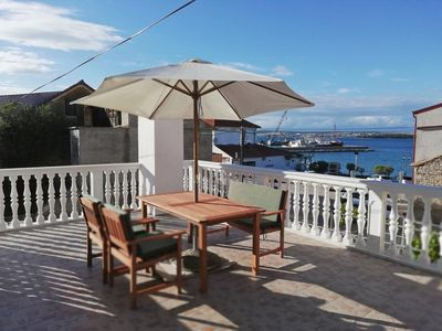 Photo for Studio flat with terrace and sea view Tkon, Pašman (AS-17360-a)