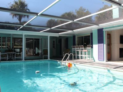 Photo for Tropical Home with Heated Pool  Near Beaches
