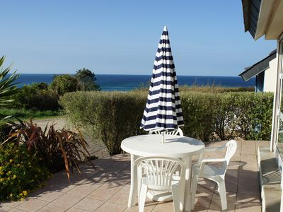 Photo for Warmth and comfortable house with a 180° view of the sea in Plouhinec.