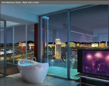 Master Bedroom Jacuzzi and View of Las Vegas Strip