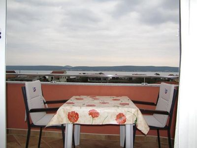 Photo for One bedroom apartment with terrace and sea view Neviđane, Pašman (A-18054-e)