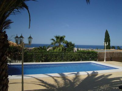 Photo for villa with garden and private pool panoramic sea and mountain