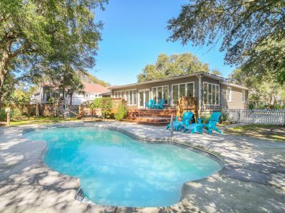 Photo for Large Family Home w/ Private Pool, Swing Set & Sunroom - Walk to Beach!
