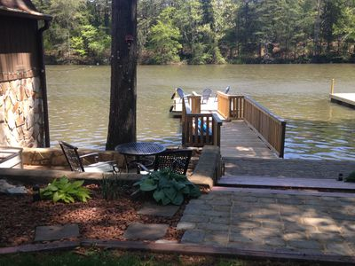 Photo for GREAT VALUE!  Private dock w/ boat ramp nearby. FREE Kayaks/Firepit/Floats/WiFi