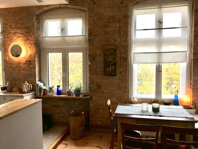 Photo for Beautiful old building apartment right on the park (in the middle but still quiet)