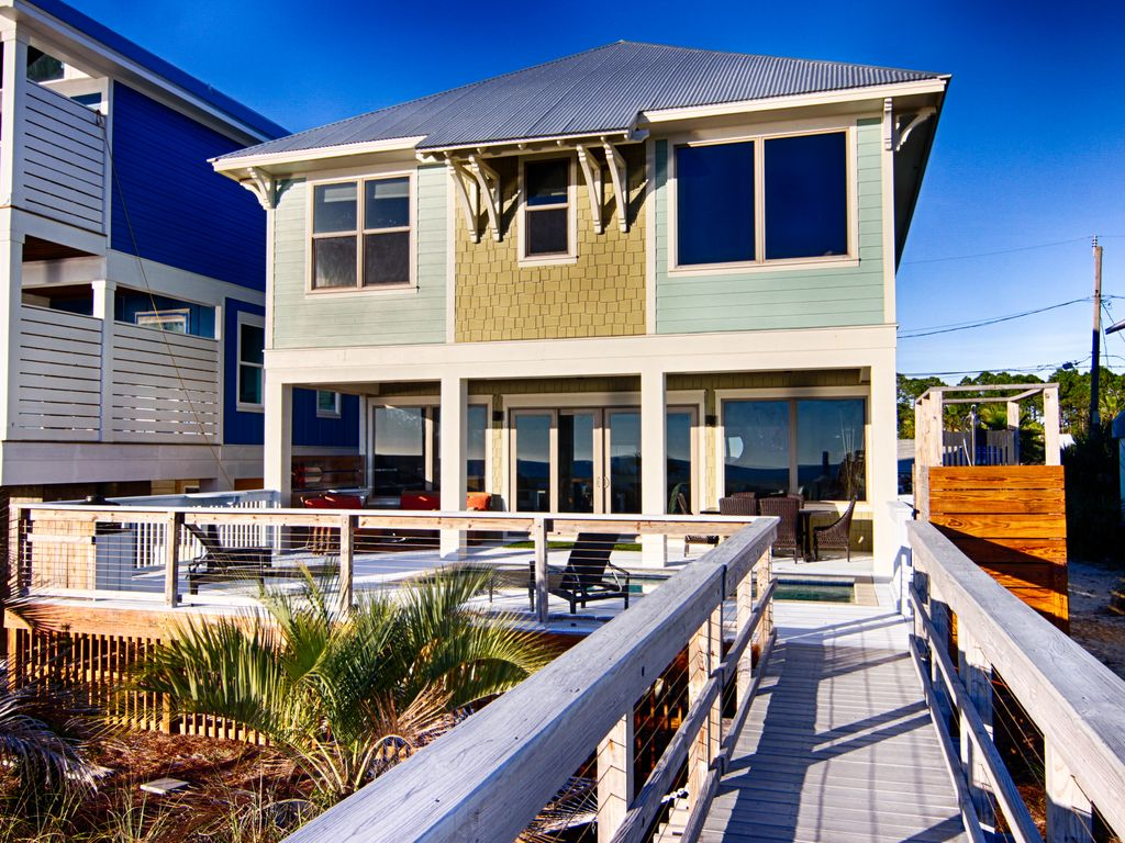 beach front home private heated pool vrbo