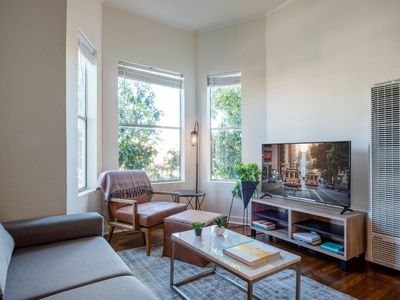 Photo for Sharp Mission Dolores 1BR w/ W/D, walk to Muni, BART, Park by Blueground