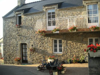 Photo for Holiday rentals, 1km from the sea in Morbihan South Brittany in renovated longhouse