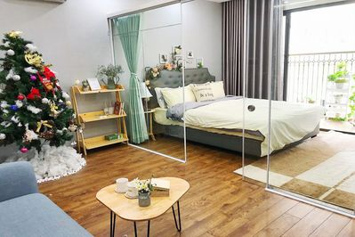 bed + living room