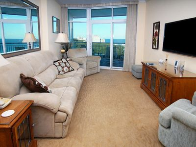 Photo for Horizon PH15, Lovely 2 BR Condo across the street from the Beach with Indoor Outdoor Pools, Hot Tub and Lazy River