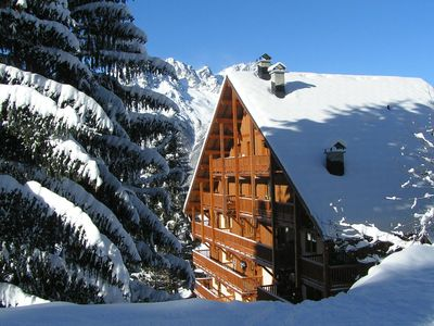Photo for Apartments on the slopes in the huge ski resort 'Grandes Rousses'