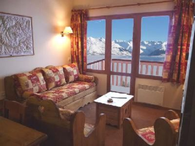 Photo for Les Coches: Luxury DUPLEX, charming, wonderful view, direct access on skis