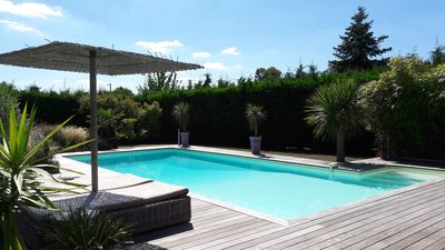 Photo for Between Bordeaux and the ocean villa with large pool