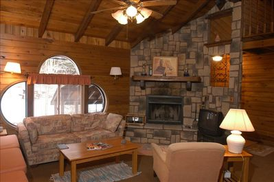 Living Room at Cabin #6