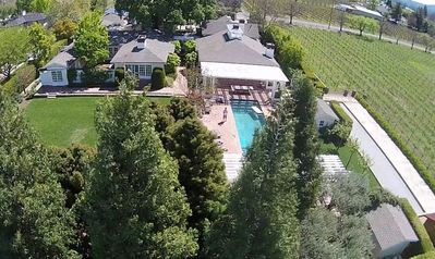 Photo for Luxury gated private St. Helena compound with vineyards walkable to town