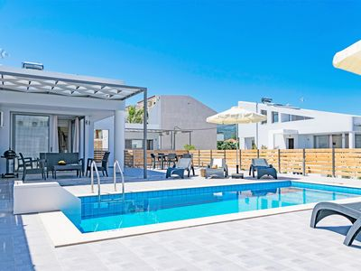 Photo for New waterfront Villa in Rethymno next to taverns ,no car needed, Blue oyster 5
