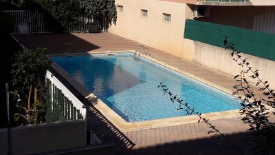 Photo for Beautiful 4pers apartment, swimming pool, private car park, crossing, facing south