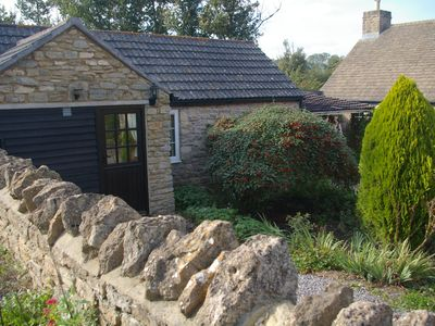 Photo for Cosy and peaceful stone built cottage in picturesque setting near Bath and Frome