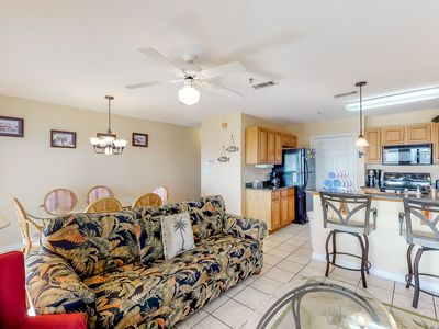 Photo for Cozy coastal condo with shared pool and easy beach access