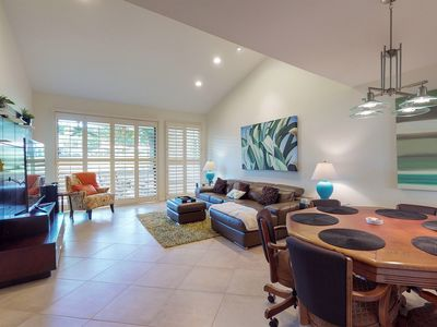 Photo for NEW LISTING! Modern condo w/ poker table, shared hot tub, pool & tennis courts!