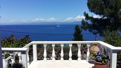 Photo for paxos sunrise apartment near the sea and access to small secluded beach