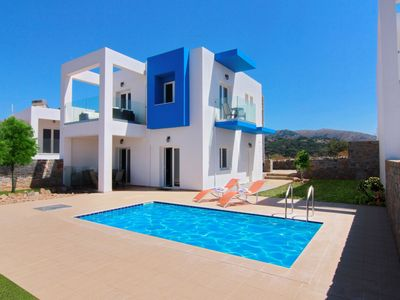 Photo for This 3-bedroom villa for up to 6 guests is located in Milatos and has a private swimming pool, air-c