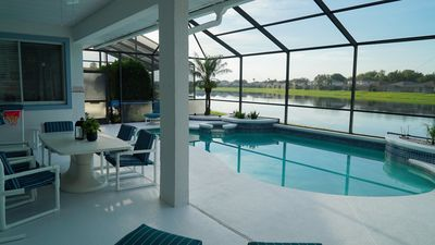 Photo for Beautful Home! Great Location! Just Mins to WDW/2-Ensuites/Gm Rm/Pool & Spa w Lake Views-8524 Sunset Lakes