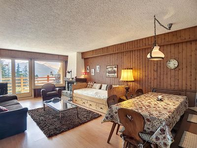 "Photo for 2 piece apartment on 1st floor, on start from skilift ""Le Rouge"".  Composition :  • Living with"