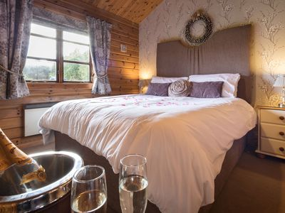 Photo for Lapwing Luxury Log Cabin, Private Hot Tub & Mountain Views in National Park