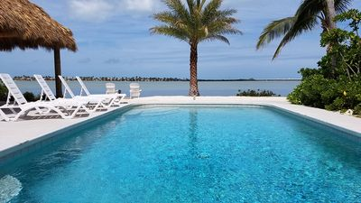 Photo for Oct-Nov avail! Book now!.  Sunsets! Dock! Huge pool! 10 min to Key West