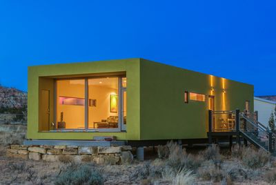 South and East decks at La Luna Desert Retreat