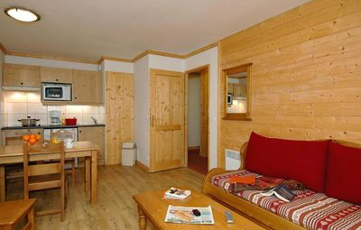 Photo for Surface area : about 28 m². Living room with pull-out sofa. Bedroom with double bed