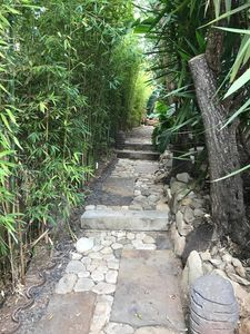 Beautiful private path to front door